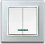 MRO3603: 10AX 2 gang 1 way switch with indicator MRO3603A: 10AX 2 gang 2 way switch with indicator Image