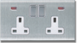 MT5230: 13A, double switchsocket, double pole switch with neon Image