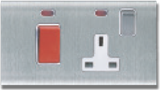 MT5231: 13A, single switchsocket, with double pole switch, 45A DP switch with neon Image