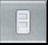 MT5242: Twin RJ45 data communication socket outlet, catergory 5E,1 gang MT5243: Twin RJ45 data communication socket outlet, catergory 6E, 1 gang Image