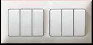 MT6291: 10AX 6 gang 1 way wide rocker switch Image