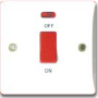 MXBT21: 45A 1 gang DP switch with neon (86mm) Image