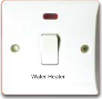 "MXBT98: 20AX 1 gang DP switch with neon marked ""Water Heater"" Image"