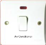 "MXBT99: 20AX 1 gang DP switch with neon makred ""Air Conditioner"" Image"