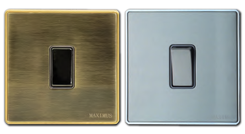 Maximus imperial Switch sockets metal range