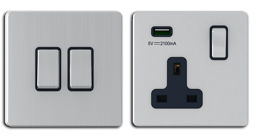 Maximus legacy Switch sockets metal range